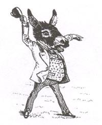 Лев, Обезьяна и два Осла (Рисунок. XX в.)