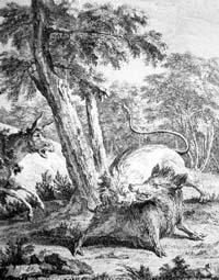 Лев и Осел на охоте (Удри)