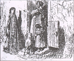 Иллюстрация к басне Стрекоза и Муравей