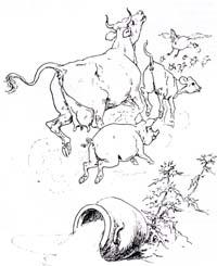 Молочница и горшок с молоком (Вимар)