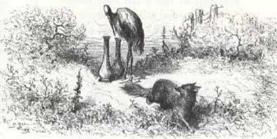 Лисица и Аист (Г. Доре)
