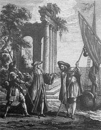 Устрица и двое Прохожих (Гранвиль)