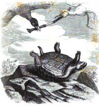 Черепаха и две Утки (Гранвиль)