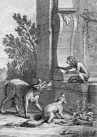 Волк и Лисица на суде перед Обезьяной (Ж. Удри)