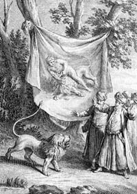 Лев, сраженный Человеком (Удри)