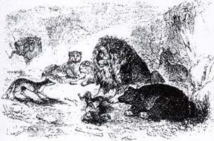 Лев и его Двор (Ж. Давид)