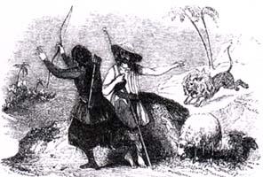 Лев и Охотник (Ж. Давид)