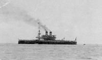 Эскадренный броненосец Чесма на рейде Гагр 1905