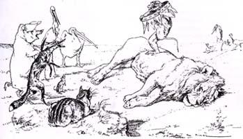 Лисица, Обезьяна и Звери (Вимар)
