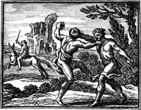 Осел и Воры (гравюра, XVII в.)