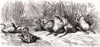 Солнце и Лягушки (Г. Доре)