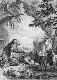 Лев на ловле (Жан-Батист Удри)