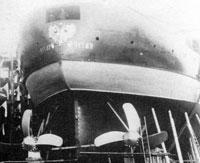Броненосный корабль Чесма на стапеле перед спуском на воду