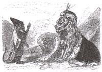 Лев, Обезьяна и два Осла (Адамард)