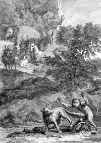 Лисица, Обезьяна и Звери (Удри)