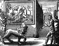Лев, сраженный Человеком (Ф. Шово)