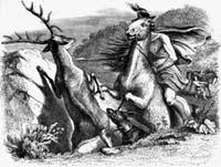Мстительный Конь и Олень (Гранвиль)