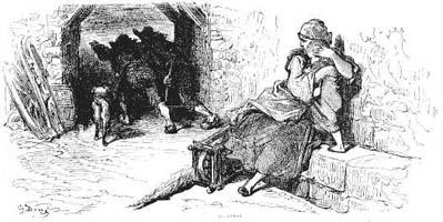 Волк, Мать и Ребенок (Г. Доре)