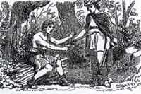 Дровосек и Меркурий (К. Жирарде)