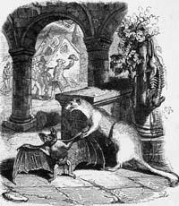 Летучая Мышь и две Ласочки (Гранвиль)