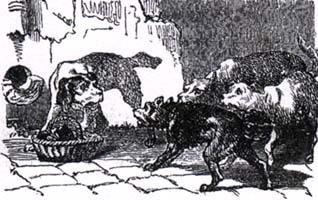 Собака с хозяйским обедом (К. Жирарде)