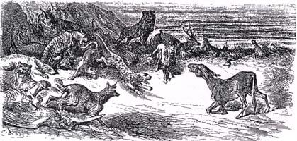 Мор зверей (Г. Доре)