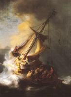 Челн Христа во время бури (Рембрандт, 1633 г.)