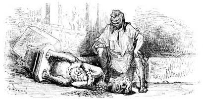 Язычник и деревянный Идол (Г. Доре)