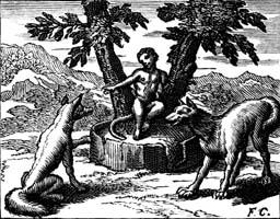 Волк и Лисица на суде перед Обезьяной (Ф. Шово)