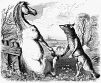 Волк и Конь (Гранвиль)