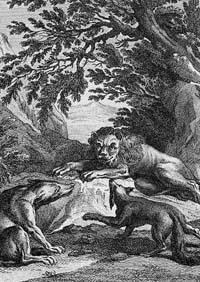 Лев, Волк и Лиса (Удри)