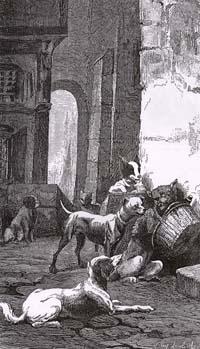 Собака с хозяйским обедом (Е. Ламберт)