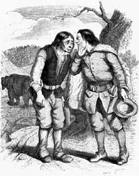 Медведь и два Охотника (Гранвиль)