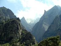 Вид на Дарьяльское ущелье