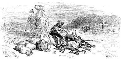 Лошадь и Осел (Г. Доре)