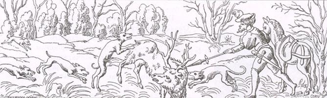Охота на оленя (Неизвестный художник. XVII в.)