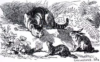 Кот, Ласочка и Кролик (К. Жирарде)