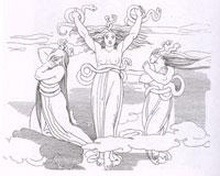 Фурии Алекто, Мегера и Тизифона (Д.Флаксмен)
