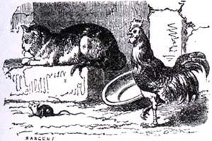 Петух, Кот и Мышонок (К. Жирарде)
