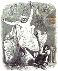 Ваятель и Статуя Юпитера (Гранвиль)