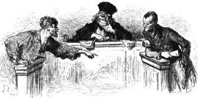 Волк и Лисица на суде перед Обезьяной (Г. Доре)