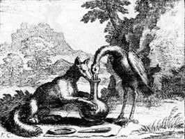 Лисица и Аист (Ф. Шово)