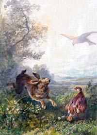 Заяц и Куропатка (А. Делире)