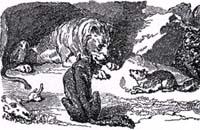 Лев, Волк и Лиса (К. Жирарде)