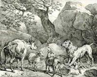 Лев на ловле (К. Верне)