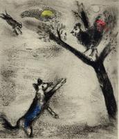 Иллюстрация к басне Петух и Лиса