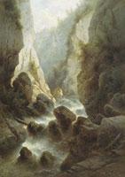 Дарьяльское ущелье. (Р. Судковский 1884)