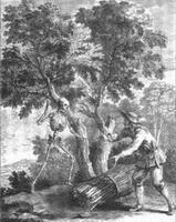 Крестьянин и Смерть (Жан-Батист Удри)