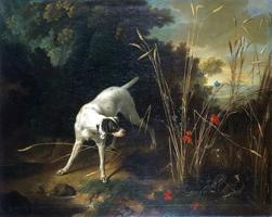 Собака на стойке перед куропаткой (Жан-Батист Удри)
