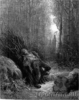 Иллюстрация к басне Крестьянин и Смерть